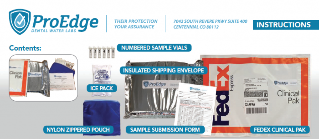 ProEdge Waterline Testing Kits Instructions